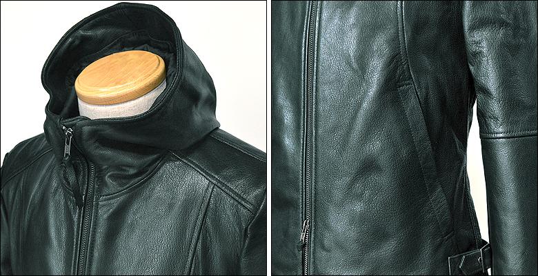 レザージャケット メンズ ネイビー紺 usa21gnavy-2